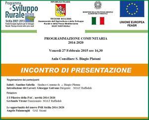 PROGRAMMAZIONE COMUNITARIA 2014 2020
